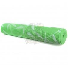 Коврик гимнастический для йоги с рисунком Artbell (зеленый)