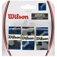 Обмотка для теннисной ракетки Wilson Camo Overgrip (синий)