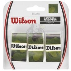 Обмотка для теннисной ракетки Wilson Camo Overgrip (зеленый)