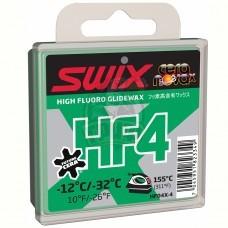 Парафин высокофтористый Swix HF4X Green -12C/-32C, 40 гр