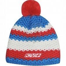 Шапочка лыжная KV+ St.Moritz (синий/белый/красный)