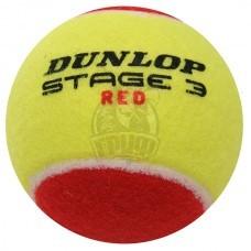 Мячи теннисные Dunlop Stage 3 Red (12 мячей в пакете)