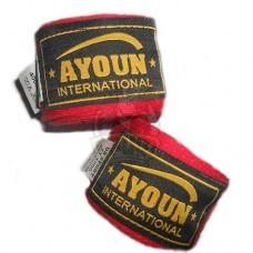Бинт боксерский Ayoun 2,5 м (красный)