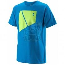 Футболка спортивная для мальчиков Wilson Tramline Tech Tee Boy (синий)
