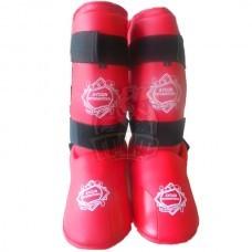 Защита голени и стопы Ayoun ПУ (красный)