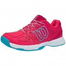 Кроссовки теннисные детские Wilson Kaos JR QL (розовый/голубой)