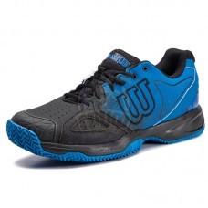 Кроссовки теннисные мужские Wilson Kaos Devo Clay (черный/синий)