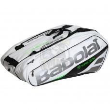 Чехол-сумка Babolat Pure Wimbledon на 12 ракеток (черный/зеленый)