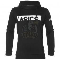 Толстовка спортивная мужская Asics Entry Sweat Po Hoodie Logo (черный)