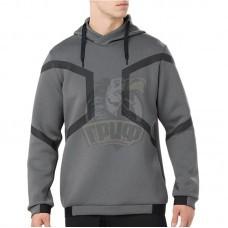 Толстовка спортивная мужская Asics Hexagon Po Hoodie (серый)