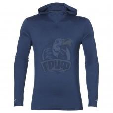 Толстовка спортивная мужская Asics Ls Hoodie (синий)