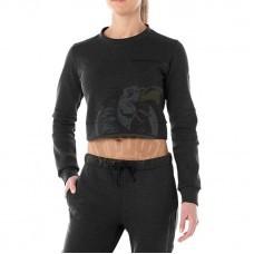 Толстовка спортивная женская Asics Tailored Cropped Crew (черный)