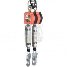 Средство защиты двухплечевое втягивающего типа Vento НВ-02 с карабином Стальной монтажный малый
