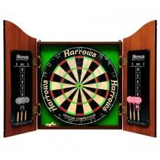 Дартс-кабинет Harrows Pro's Choice Complete Darts Set 18 дюймов (сизалевая мишень)