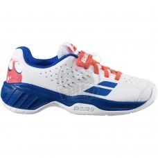 Кроссовки теннисные детские Babolat Pulsion AC Kid (синий/белый)
