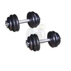 Гантели разборные 15+15 кг (пара)