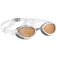 Очки для плавания на открытой воде поляризационные Mad Wave Triathlon Polarize (белый)