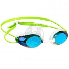 Очки для плавания тренировочные Mad Wave Honey Rainbow (зеленый)