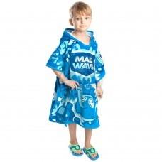 Полотенце-пончо детское Mad Wave Mad Bubbles