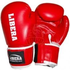 Перчатки боксерские Libera Profi Aiba ПУ (красный)