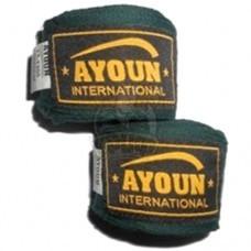 Бинт боксерский Ayoun 2,5 м (зеленый)