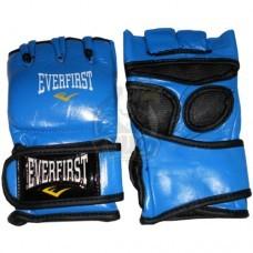 Перчатки для смешанных единоборств Everfirst кожа (синий)