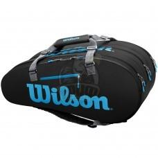 Чехол-сумка Wilson Ultra на 15 ракеток (черный/синий)