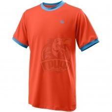 Футболка спортивная для мальчиков Wilson Competition Crew Boy (оранжевый)