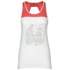 Майка спортивная женская Asics Loose Strappy Tank (белый/розовый)
