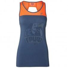 Майка спортивная женская Asics Loose Strappy Tank (синий/оранжевый)