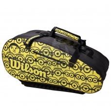 Чехол-сумка Wilson Minions Tour на 12 ракеток (черный/желтый)