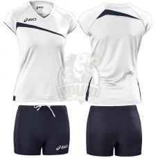 Форма волейбольная женская Asics Set Play Off (белый/черный)