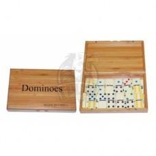 Домино подарочное в бамбуковой коробке