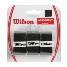 Обмотка для теннисной ракетки Wilson Pro Soft Overgrip (черный)