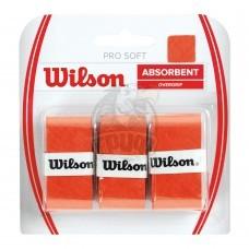 Обмотка для теннисной ракетки Wilson Pro Soft Overgrip (оранжевый)
