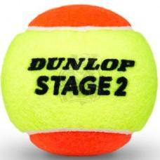 Мячи теннисные Dunlop Stage 2 Orange (3 мяча в тубе)