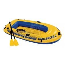 Лодка надувная двухместная Intex Challenger 2 ПВХ