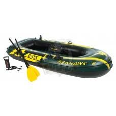 Лодка надувная двухместная Intex SeaHawk 200 ПВХ