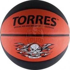 Мяч баскетбольный любительский Torres Game Over Indoor/Outdoor №7