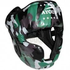 Шлем боксерский боевой Ayoun Profi кожа