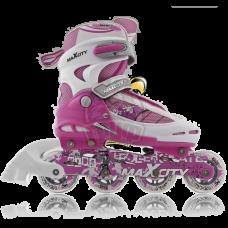 Роликовые коньки раздвижные Maxcity Symbol Pink