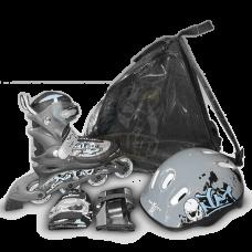 Роликовые коньки раздвижные с комплектом защиты Maxcity Caribo Combo Boy