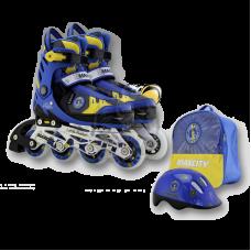 Роликовые коньки раздвижные с комплектом защиты Maxcity Little Rabbit Blue