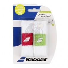 Напульсник Babolat Reversible Jumbo Wristband (розовый, зеленый)