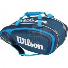 Чехол-сумка Wilson Tour V на 9 ракеток (синий)