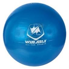 Мяч гимнастический (фитбол) Winmax 75 см с системой антивзрыв + насос (серый)