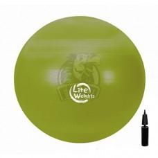 Мяч гимнастический (фитбол) Lite Weights 65 см с системой антивзрыв + насос