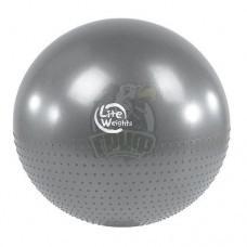 Мяч гимнастический полумассажный Lite Weights 65 см с системой антивзрыв + насос