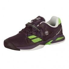Кроссовки теннисные детские Babolat Propulse AC Wimbledon Jr (фиолетовый/зеленый)