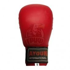 Перчатки (накладки) каратэ Ayoun ПВХ (красные)